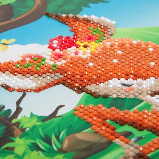 Set creativ tablou cu cristale, Crystal Art Forest Deer 20x20cm, Craft Buddy Art & Craft