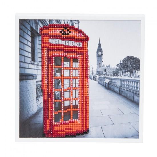 Set creativ tablou cu cristale, Crystal Art London 20x20cm, Craft Buddy