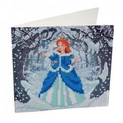 Set creativ tablou cu cristale Enchanted Princess 18x18cm, Craft Buddy