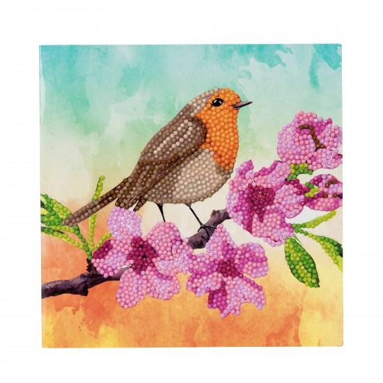 Set creativ tablou cu cristale Robin 18x18cm, Craft Buddy Art & Craft
