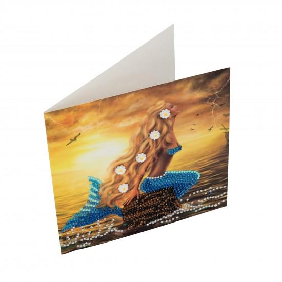 Set creativ tablou cu cristale Mermaid Dreams 18x18cm, Craft Buddy Art & Craft