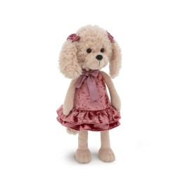 Jucarie catelusa de plus Lucky Dolly: Retro Party, 25cm, Orange Toys