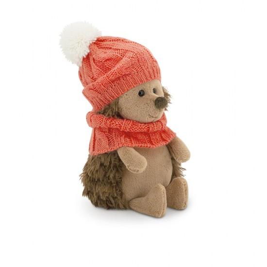 Fluffy, ariciul cu caciulita si fular roz, din plus, 15cm, Orange Toys
