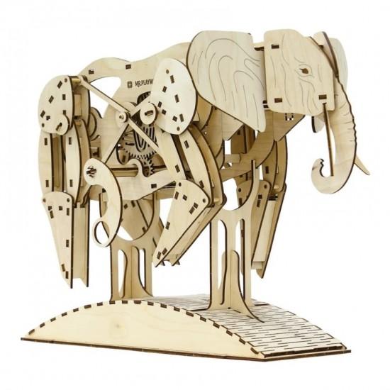 """Model mecanic """"Elefant"""" din lemn Jocuri"""