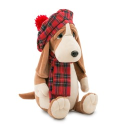 Jucarie catelul basset de plus Andrew, 25cm, Orange Toys