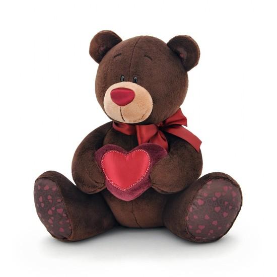 Jucarie ursuletul cu inimioara de plus Choco, 25cm, Orange Toys Jucarii Plus