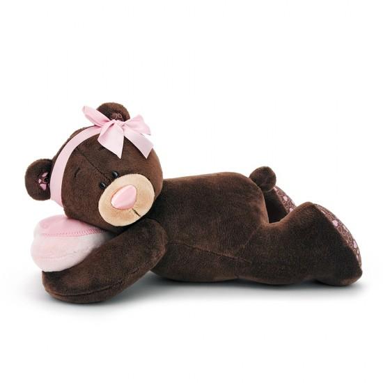 Jucarie ursulet de plus somnoros Milk, 20cm, Orange Toys Jucarii Plus