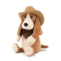 Jucarie catelul basset de plus Billy, 25cm, Orange Toys