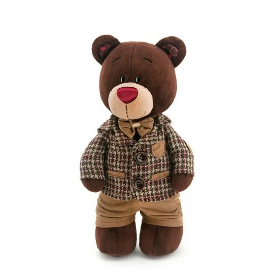 Jucarie ursuletul in hainuta cu carouri de plus Choco, 30cm, Orange Toys Jucarii Plus