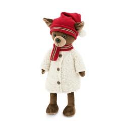 Jucarie catelusa de plus Lucky Kiki: Winter Fable, 25cm, Orange Toys