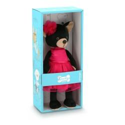 Jucarie catelusa de plus Lucky Blacky: Carmen, 25cm, Orange Toys