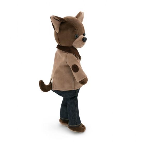 Jucarie catelul de plus Lucky Alex: Trendy Style, 25cm, Orange Toys Jucarii Plus