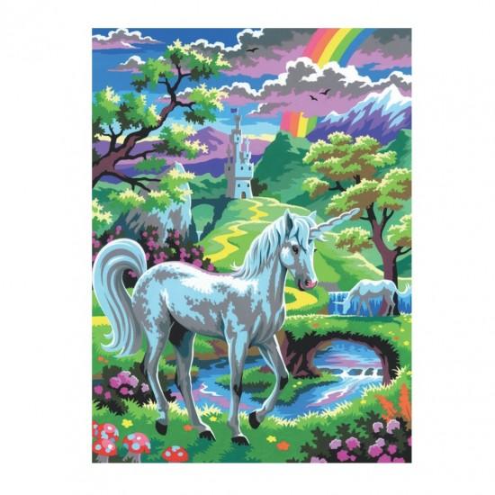 Set creativ pictura - JPBN - Unicorn, 24x33x2cm, Sequin Art