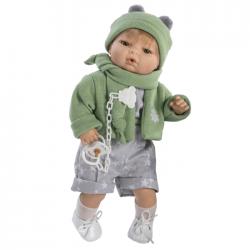 Papusa interactiva Raul cu pulover verde, 42 cm, Berbesa