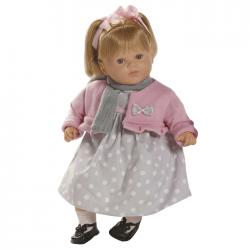 Papusa interactiva Carla in rochita cu buline, 52 cm, Berbesa