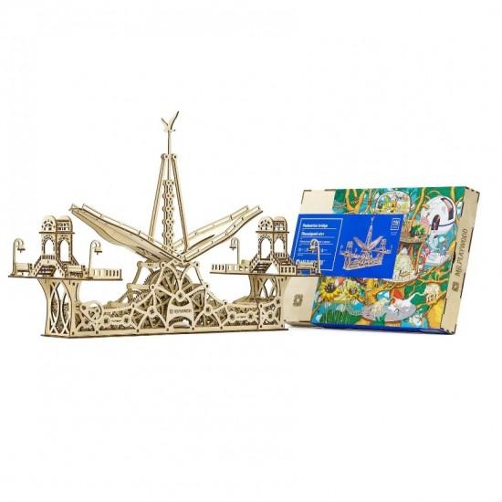 "Model mecanic ""Pod pietonal"" din lemn Jocuri"
